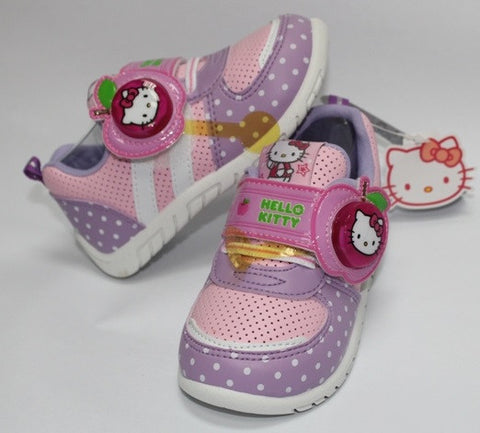 HELLO KITTY KIDS SHOES WITH FLASHING LIGHTS- PURPLE K 713513 [MADE IN TAIWAN]