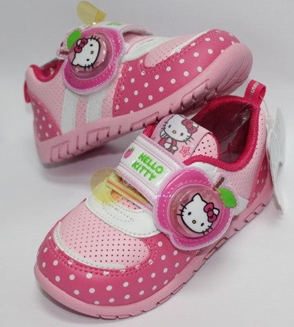 HELLO KITTY KIDS SHOES WITH LIGHT-PINK K 713513 [MADE IN TAIWAN]