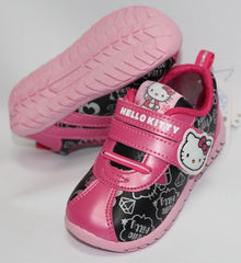 HELLO KITTY KIDS SHOES- BLACK WITH PINK K 713510 [MADE IN TAIWAN]