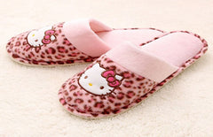 HELLO KITTY BEDROOM SLIPPERS -LEOPARD PRINTS [FROM KOREA]