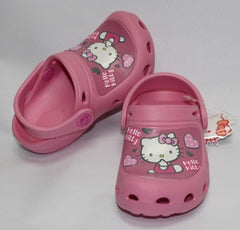 HELLO KITTY KIDS CROCS SHOES-PINK K 813570 [MADE IN TAIWAN]
