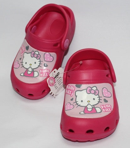 HELLO KITTY KIDS CROCS SHOES- DARK PINK K 813570 [MADE IN TAIWAN]