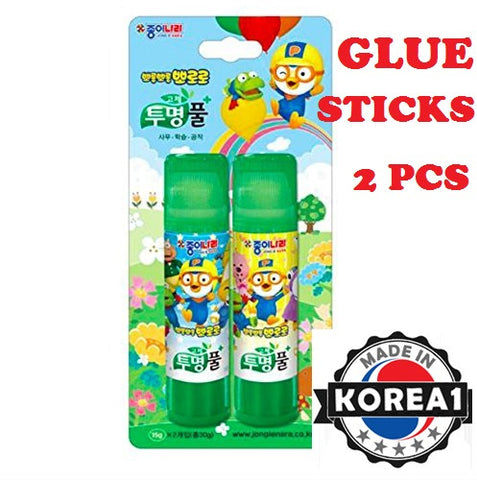 PORORO GLUE STICKS 2PCS SET [MADE IN KOREA]