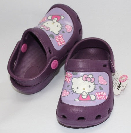 HELLO KITTY KIDS CROCS SHOES- PURPLE K 813570 [MADE IN TAIWAN]