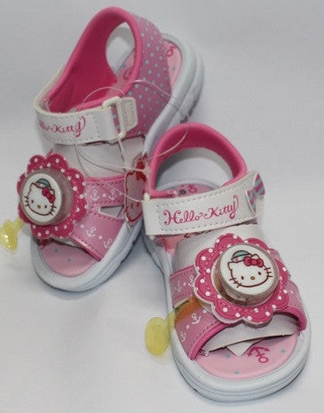 HELLO KITTY KIDS SANDALS WITH FLASHING LIGHT- PINK K 814628 [MADE IN TAIWAN]