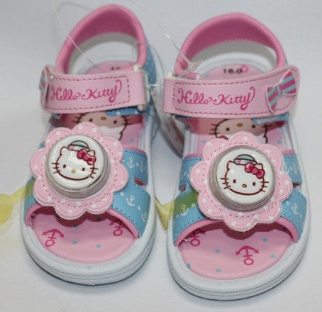 HELLO KITTY KIDS SANDALS WITH FLASHING LIGHT- BLUE K 814628 [MADE IN TAIWAN]