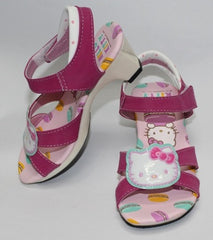 HELLO KITTY KIDS SHOES - HIGH HEELS DARK PINK K 814669 [MADE IN TAIWAN]