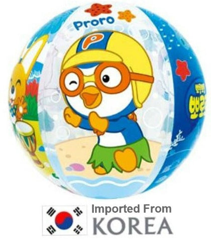 PORORO BEACH BALL -40CM INFLATABLE [FROM KOREA]