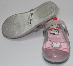 HELLO KITTY KIDS JELLY SHOES WITH STRAP-WHITE K 3157 [MADE IN TAIWAN]