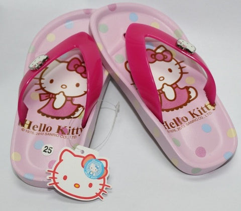HELLO KITTY KIDS SLIPPERS- LIGHT PINK K 3186 [MADE IN TAIWAN]
