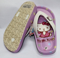 HELLO KITTY KIDS SLIPPERS- PURPLE K 3186 [MADE IN TAIWAN]