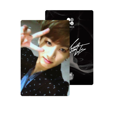BTS JUNGKOOK PRINTED SIGNATURE PHOTO CARD PC - DESIGN 1