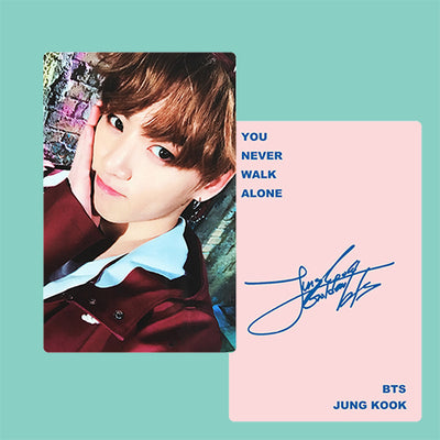 BTS JUNGKOOK PRINTED SIGNATURE PHOTO CARD PC - DESIGN 2