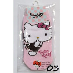 HELLO KITTY COTTON SOCKS KT- A517 (15-24 CM) [AGE 5-15] [MADE IN TAIWAN]