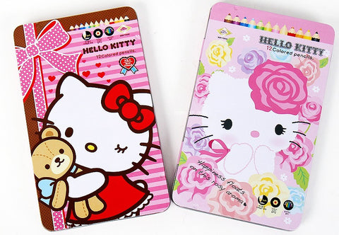 HELLO KITTY COLOUR PENCILS SET [FLOWER]