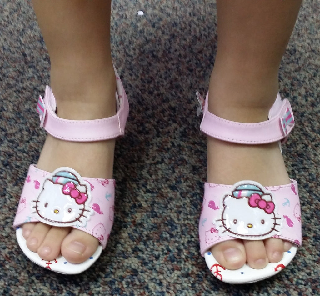 HELLO KITTY KIDS SHOES-HEELS WHITE K 814668 [MADE IN TAIWAN]