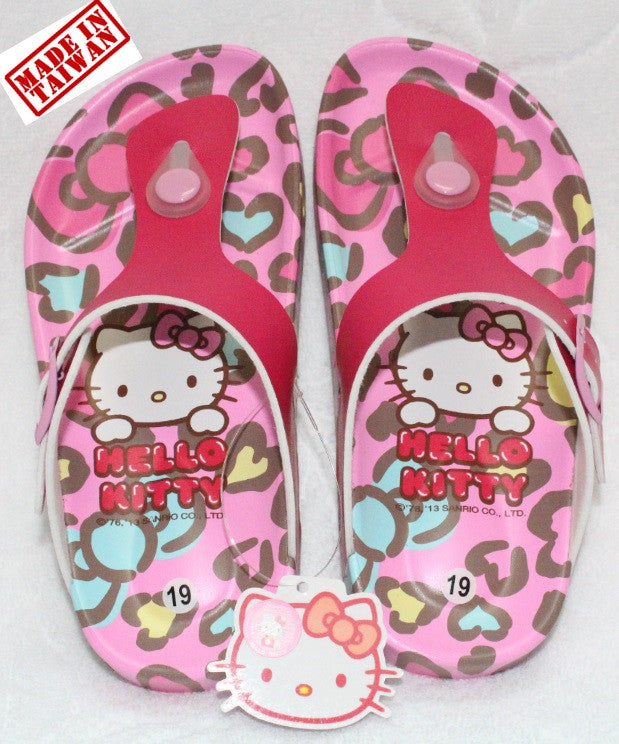 HELLO KITTY KIDS SLIPPERS- LEOPARD PINK K 3225 [MADE IN TAIWAN]