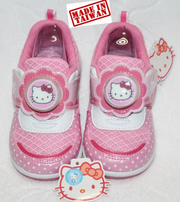 HELLO KITTY KIDS SHOES WITH FLASHING LIGHTS -PINK K 714830 [MADE IN TAIWAN]