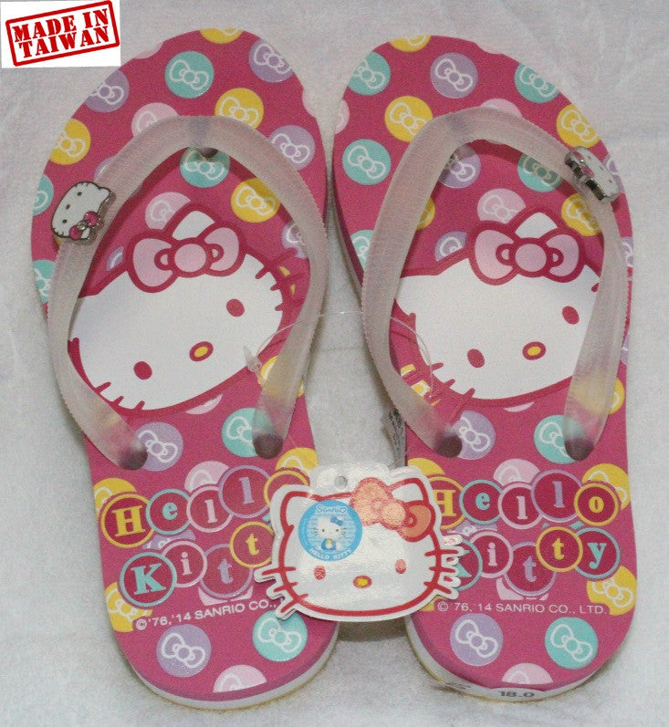 HELLO KITTY KIDS SLIPPERS- PINK K 814661 [MADE IN TAIWAN]
