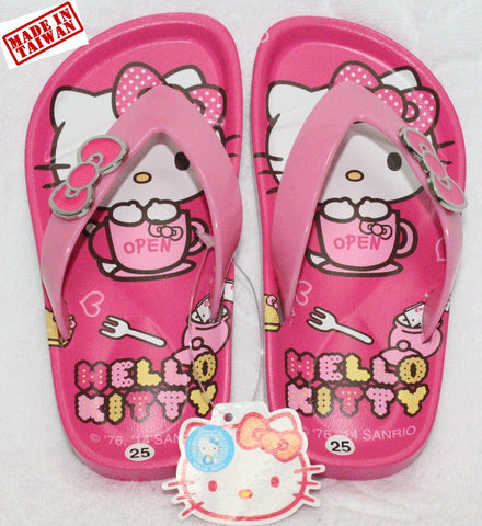 HELLO KITTY KIDS SLIPPERS - DARK PINK K 3285 [MADE IN TAIWAN]