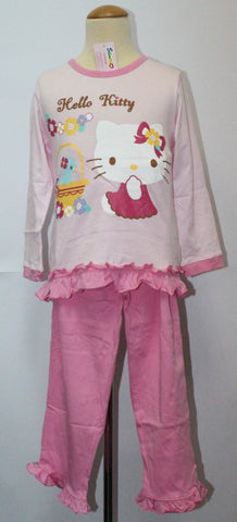 HELLO KITTY KIDS SLEEPWEAR LONG SLEEVE SET - KT 88175 PINK