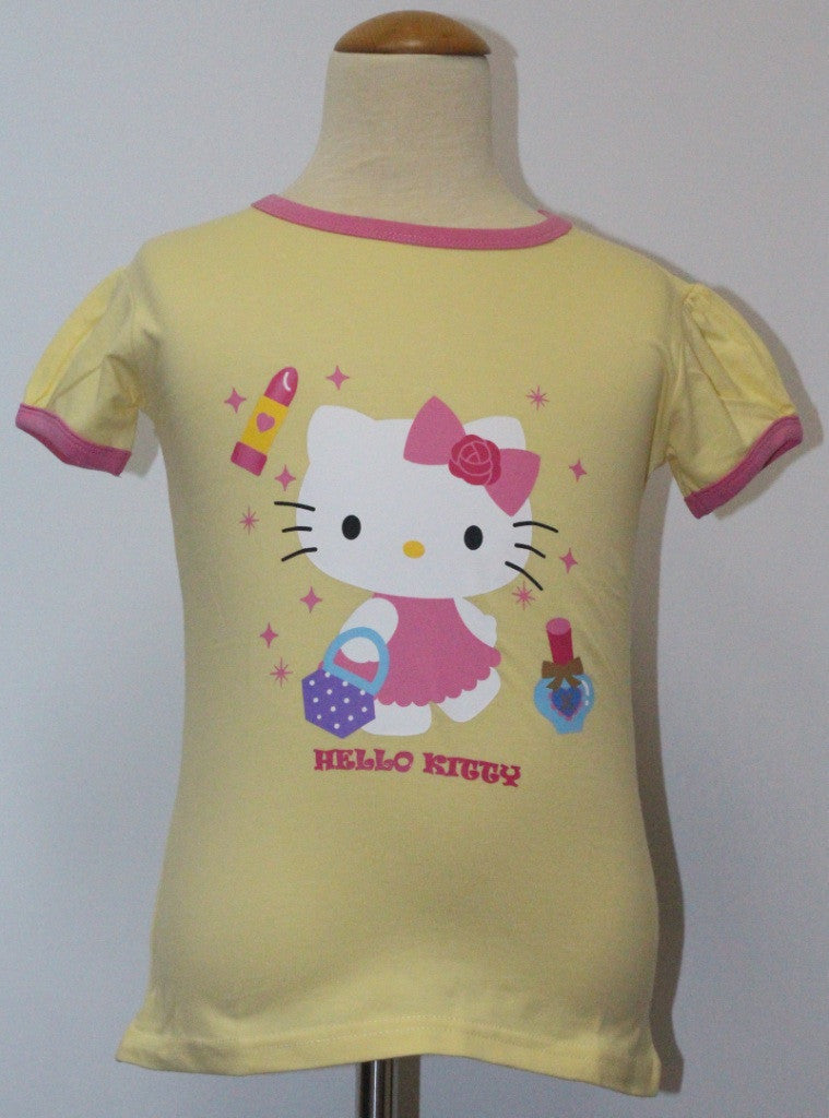 HELLO KITTY KIDS COTTON TOP / T-SHIRT YELLOW- KT 88226