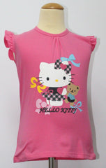 HELLO KITTY KIDS COTTON TOP / T-SHIRT DARK PINK- KT 88210