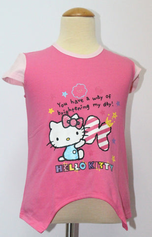 HELLO KITTY KIDS COTTON TOP / T-SHIRT DARK PINK- KT 88209