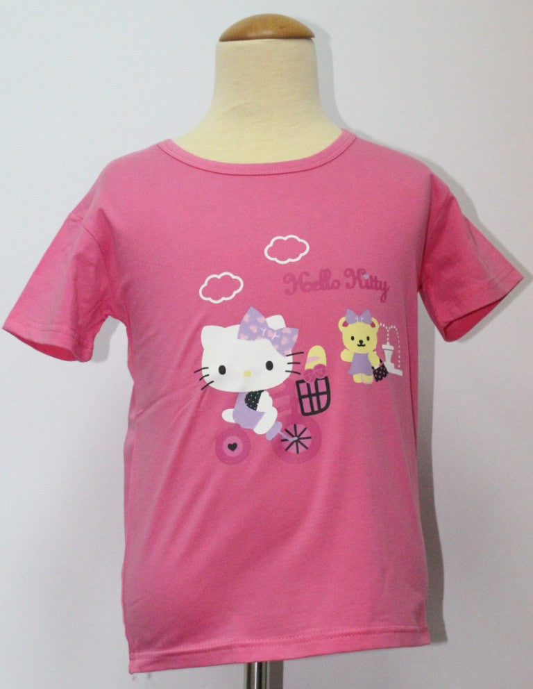 HELLO KITTY KIDS COTTON TOP / T-SHIRT DARK PINK- KT 88198-5