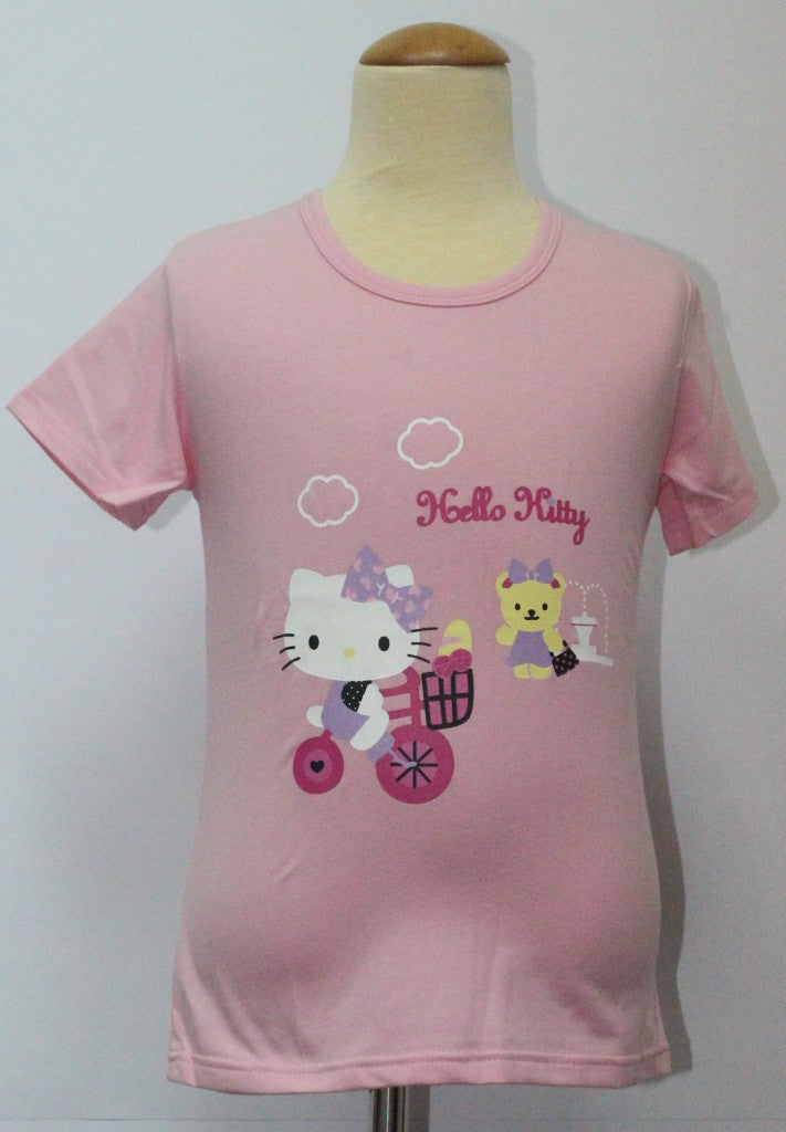 HELLO KITTY KIDS COTTON TOP / T-SHIRT LIGHT PINK - KT 88198-6