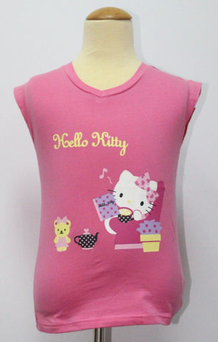 HELLO KITTY KIDS COTTON TOP / T-SHIRT DARK PINK - KT 88197-5