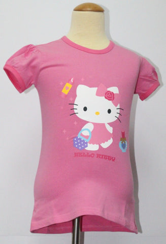 HELLO KITTY KIDS COTTON TOP / T-SHIRT - DARK PINK KT 88226