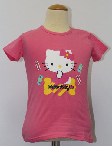 HELLO KITTY KIDS COTTON TOP / T-SHIRT - DARK PINK KT 88211