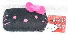 HELLO KITTY FURRY PHONE POUCH  (BLACK)