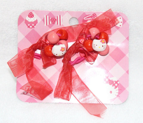 HELLO KITTY HAIR RUBBER BAND (RED)