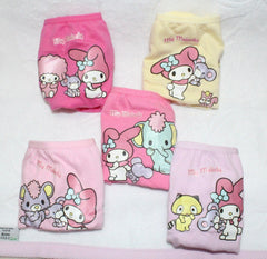 MELODY KIDS COTTON PANTIES 5 PC SET WITH BAG- MM 50060