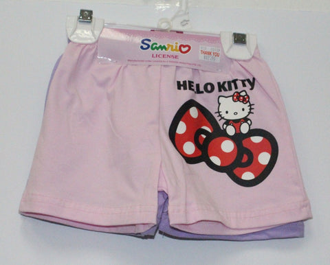 HELLO KITTY KIDS SHORTS 2PC SET- KT 00129 PINK / PURPLE