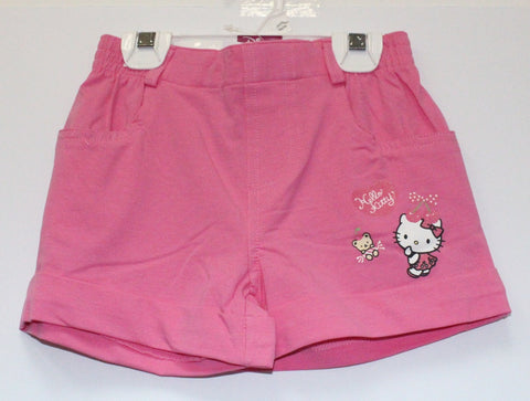 HELLO KITTY KIDS SHORTS WITH POCKETS- DARK PINK KT 00144