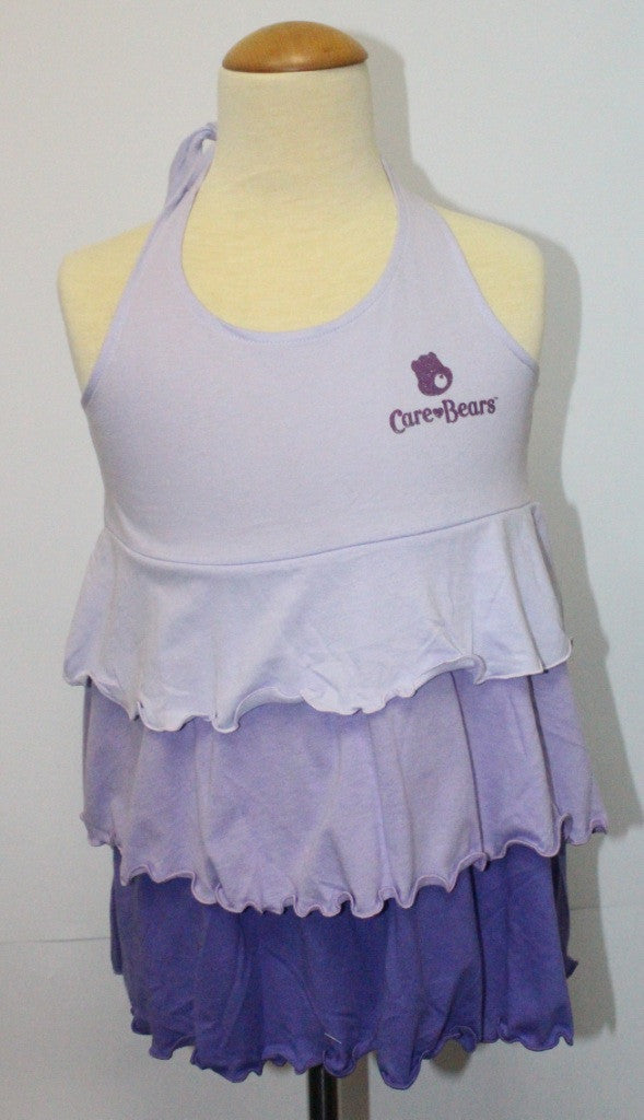 CARE BEARS KIDS COTTON BAREBACK TOP - PURPLE CB 01108