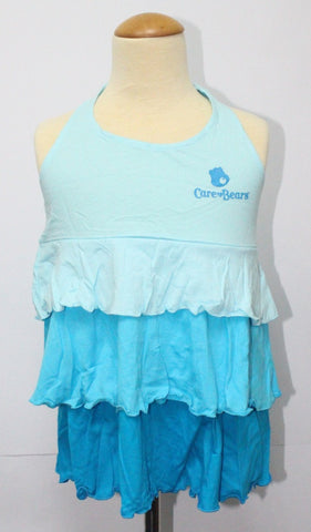 CARE BEARS KIDS COTTON BAREBACK TOP -BLUE CB 01108