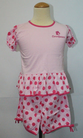 CARE BEARS KIDS TOP & SHORTS SET -LIGHT PINK CB 1106A