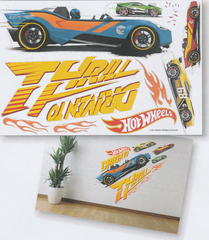 HOT WHEELS THRILL WALL STICKER - HW16-ST H002