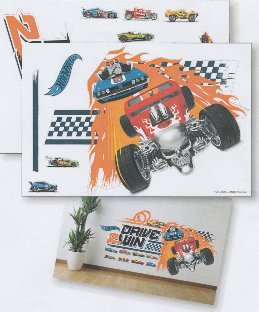 HOT WHEELS DRIVE 2 WIN WALL STICKER -HW16 ST H004