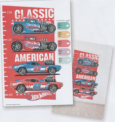 HOT WHEELS CLASSIC AMERICAN RACING CARS WALL HEIGHT STICKER -HW 16 HS 001