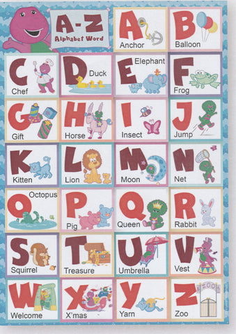 BARNEY ALPHABETS EDUCATIONAL POSTER -B&F16 AL B001