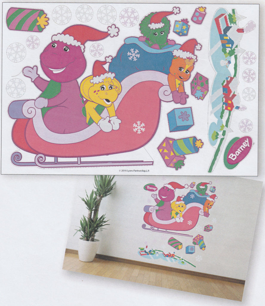 BARNEY CHRISTMAS JOY WALL STICKERS - B&F6-ST B001