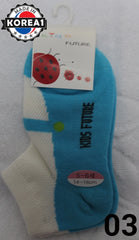 KOREA KIDS COTTON SOCKS -FUTURE [AGE 5-6] (14-16cm) [MADE IN KOREA]