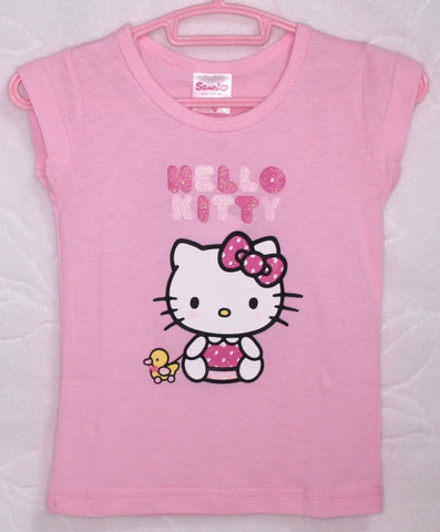HELLO KITTY BABY COTTON TOP / T-SHIRT - KT 22013 LIGHT PINK