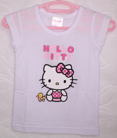 HELLO KITTY BABY COTTON TOP / T-SHIRT - KT 22013 WHITE