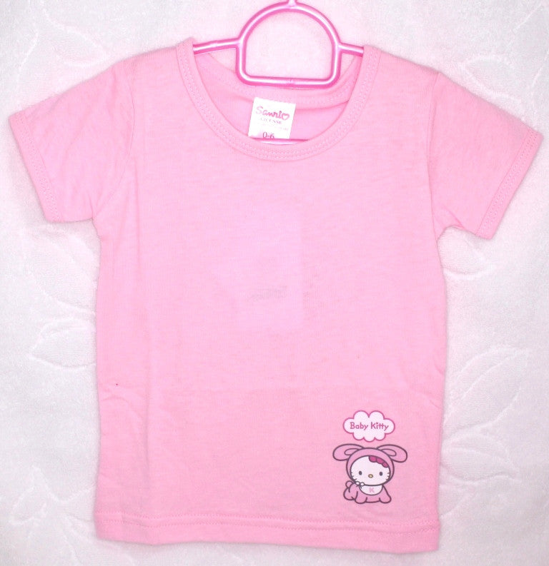 HELLO KITTY BABY COTTON TOP / T-SHIRT - KT 22012 PINK